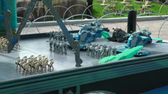 Cristophsis of Starwars designed with Lego on Carlsbad, USA Stock Footage
