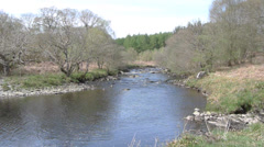 Water of Minnoch, Galloway Forest Park, Dumfries and Galloway, Scotland, UK Stock Footage