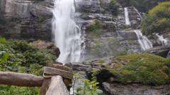 Chiangmai Highest Waterfall Stock Footage