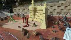 Geonosis of Starwars designed with Lego on Carlsbad, USA Stock Footage