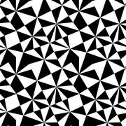 seamless texture with triangles, mosaic endless pattern. that square design h - stock illustration