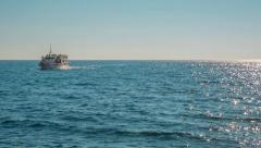 Boat trip in the Mediterranean  - stock footage