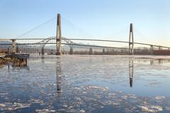New Westminster, Fraser River Ice - stock photo