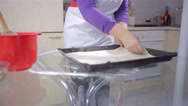 Stock Video Footage of Making Dough Fit in Tray