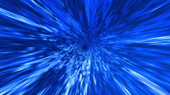 Star Burst Rays Tunnel Vortex Blue Background 4K UHD - stock footage