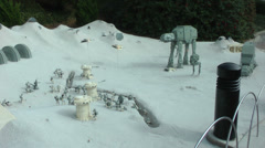 Hoth of Starwars designed with Lego on Carlsbad, USA on CIRCA 2014. Stock Footage