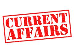 Current Affairs - stock illustration