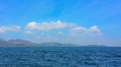 Ocean and the mountains on the horizon. thailand, ranong Stock Footage
