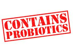 Contains Probiotics Stock Illustration