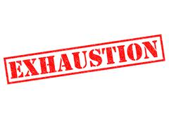 Exhaustion Stock Illustration