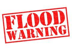 Flood Warning - stock illustration