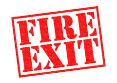 Fire Exit - stock illustration