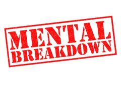 Mental Breakdown - stock illustration