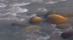Big stones in the river Stock Footage
