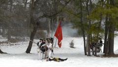 Revolutionary war reenactment Stock Footage