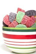 Holiday gumdrop candies Stock Photos