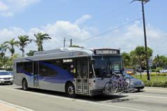 broward county transit bus - stock photo