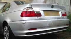 Jet washing pressure washing car Stock Footage