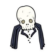 Stock Illustration of cartoon spooky skull spider