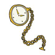 Stock Illustration of cartoon gold watch