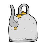 Stock Illustration of old iron kettle cartoon