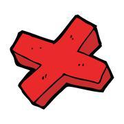 Stock Illustration of cartoon negative cross symbol