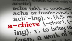 Dictionary Achieve - stock footage