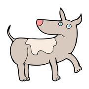 funny cartoon dog - stock illustration