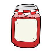 Stock Illustration of cartoon jar of jam