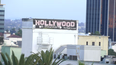 Day Cityscape Hollywood Blvd in Los Angeles California on CIRCA 2014. Stock Footage