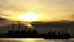 Viivästys ampui vesivoimalaan auringonnousun, 4K Arkistovideo