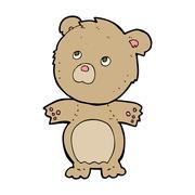 Stock Illustration of cartoon funny teddy bear