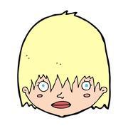 Cartoon staring woman Stock Illustration