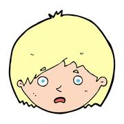 Stock Illustration of cartoon unhappy boy