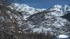 Allos Village From Above Stock Footage