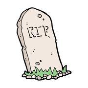 Stock Illustration of cartoon spooky grave