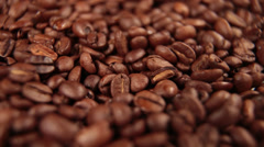 Coffee Beans Detail Dolly Stock Footage