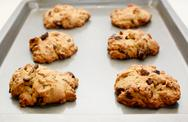 Stock Photo of six cookies fresh from the oven