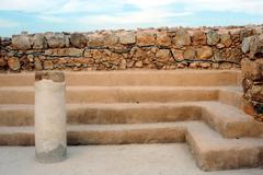 masada fortress israel - stock photo