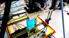 Prototype of handcraft 3d printer. Stock Footage