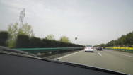 Stock Video Footage of Car point of view on motorway pov