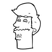 Stock Illustration of cartoon nervous man