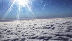 Over the cloud cover Stock Footage