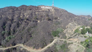 Stock Video Footage of Hollywood Sign Aerials