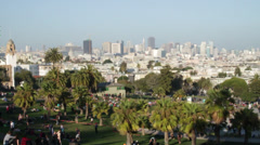 Top view of San Francisco panoramic park Stock Footage