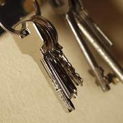 apartment keys - stock photo