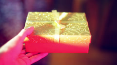 Present gift birthday christmas Stock Footage