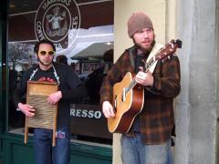 Seattle Street Performers Stock Footage