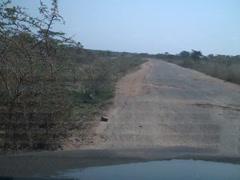 Stock Video Footage of Third World Road in Tremendous Disrepair