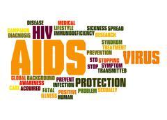 Aids word cloud Stock Illustration